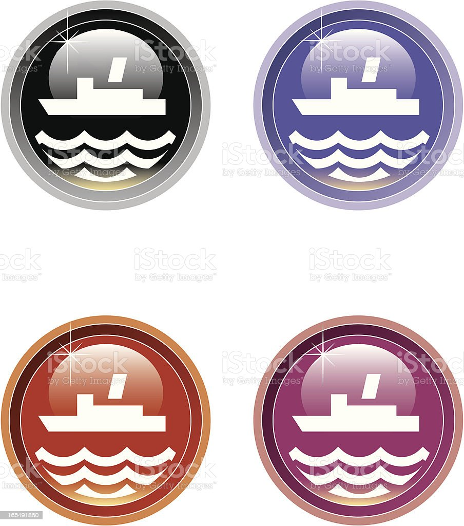 Ship icon vector art illustration