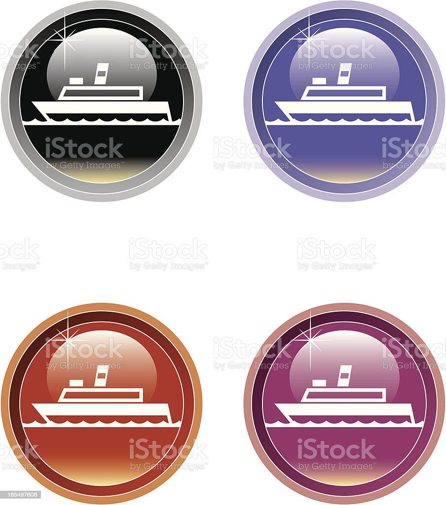 Ship icon two royalty-free stock vector art