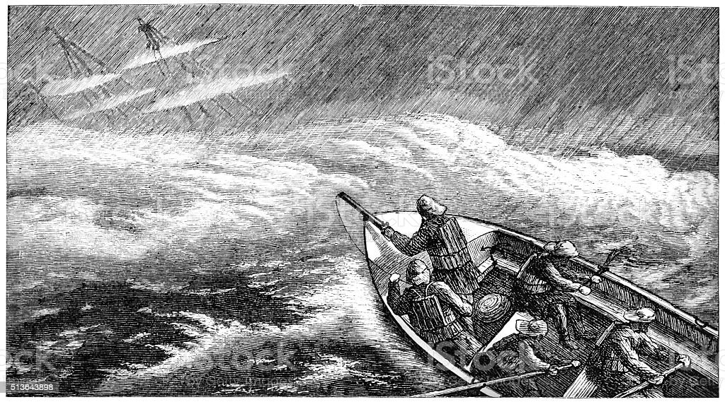 Ship Wreak vector art illustration