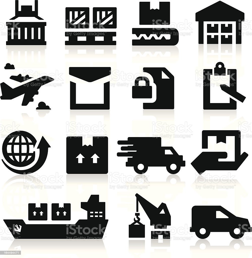 Shipping icons royalty-free stock vector art