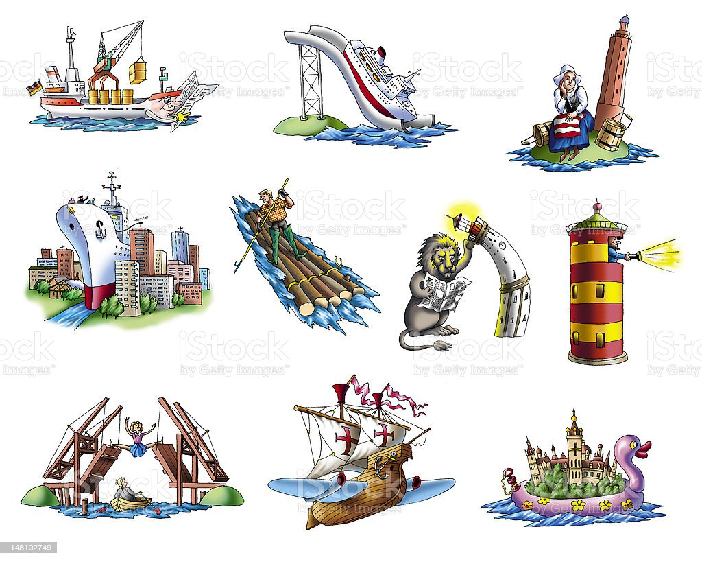 ships royalty-free stock vector art