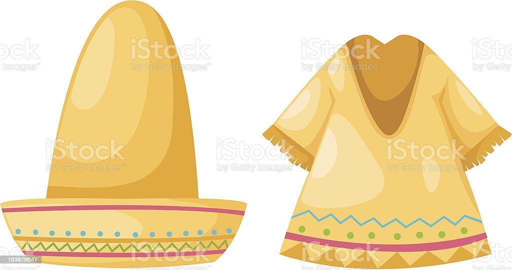 Shirt and hat royalty-free stock vector art