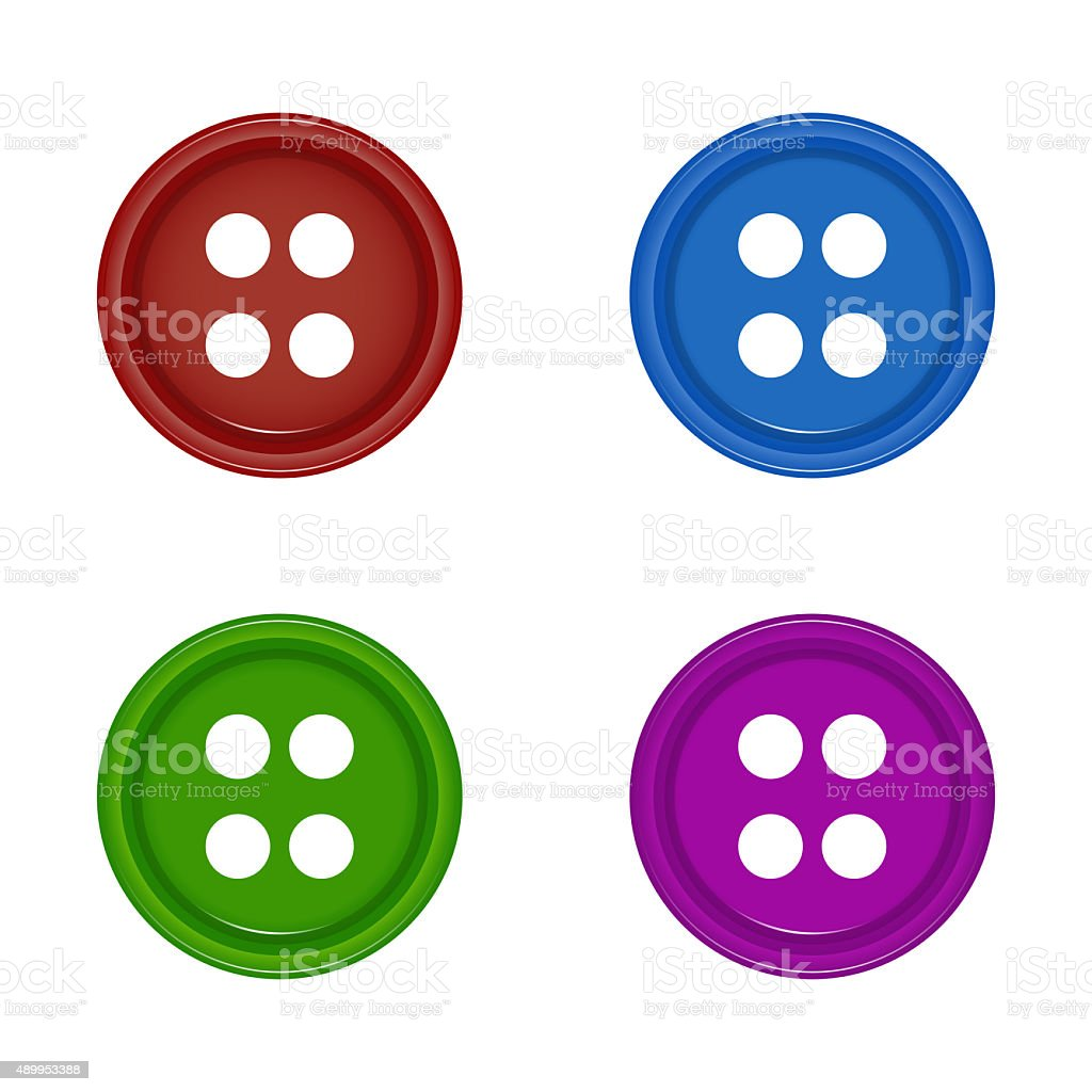shirt buttons vector art illustration