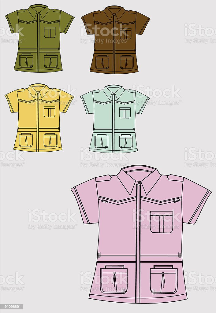 shirt royalty-free stock vector art