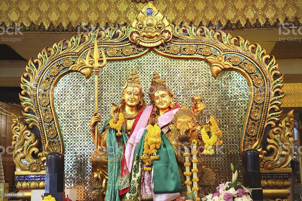 shiva family royalty-free stock vector art