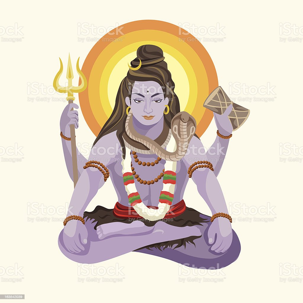 Shiva vector art illustration