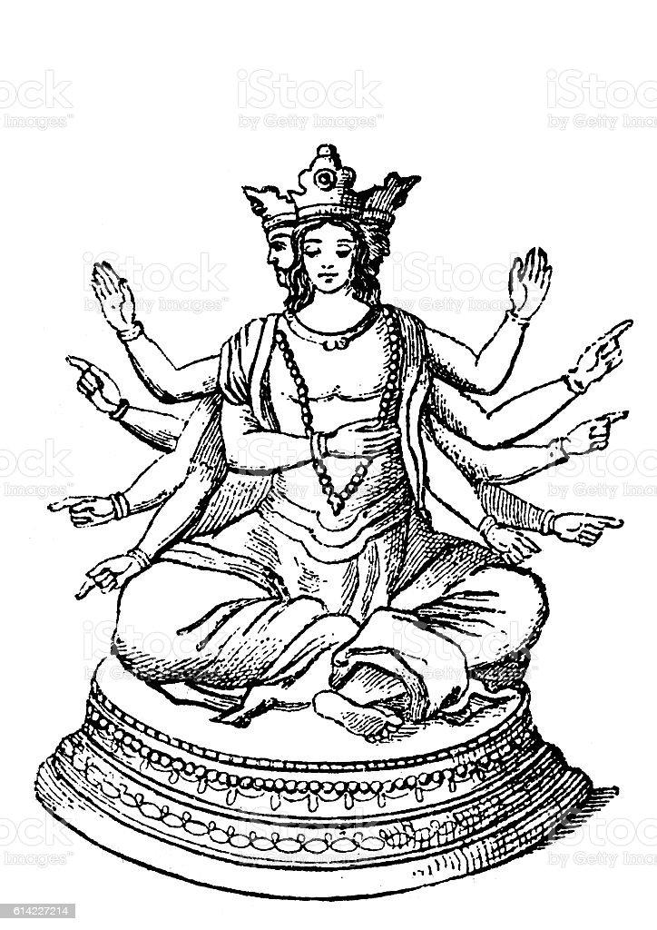 Shiva vector art illustration