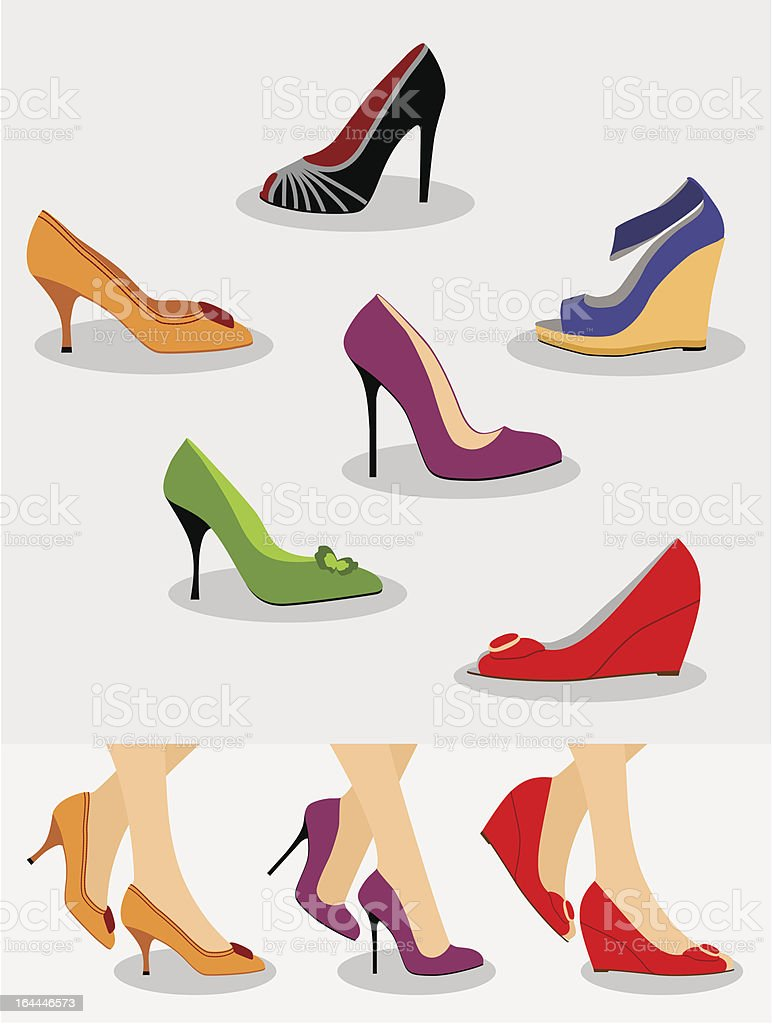 Shoes Set royalty-free stock vector art
