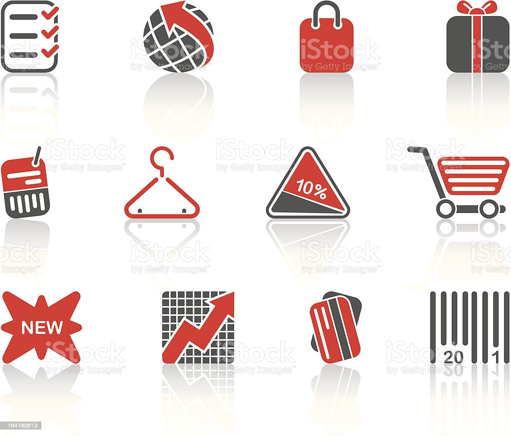 shoping icons royalty-free stock vector art