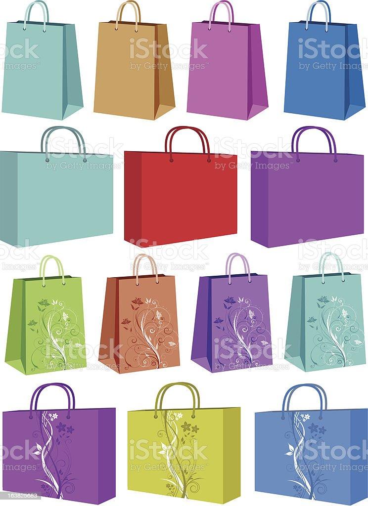 Shopping bags royalty-free stock vector art