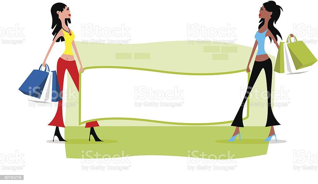 Shopping banner vector art illustration
