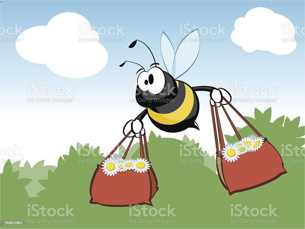 Shopping Bee royalty-free stock vector art