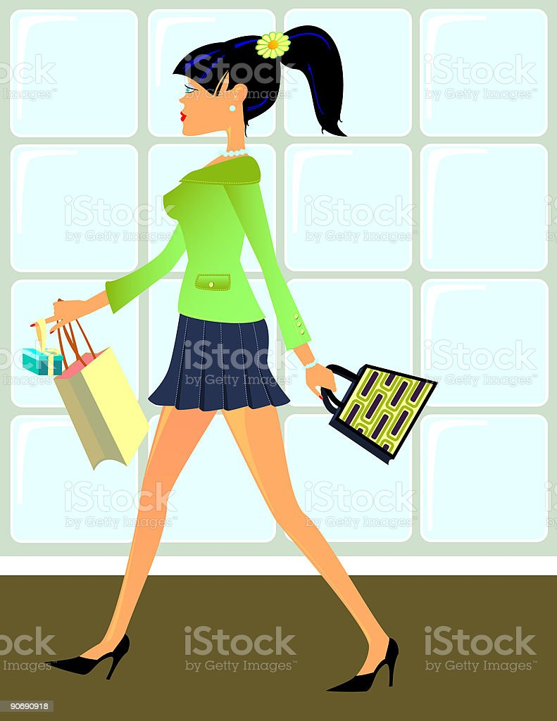 Shopping Day royalty-free stock vector art