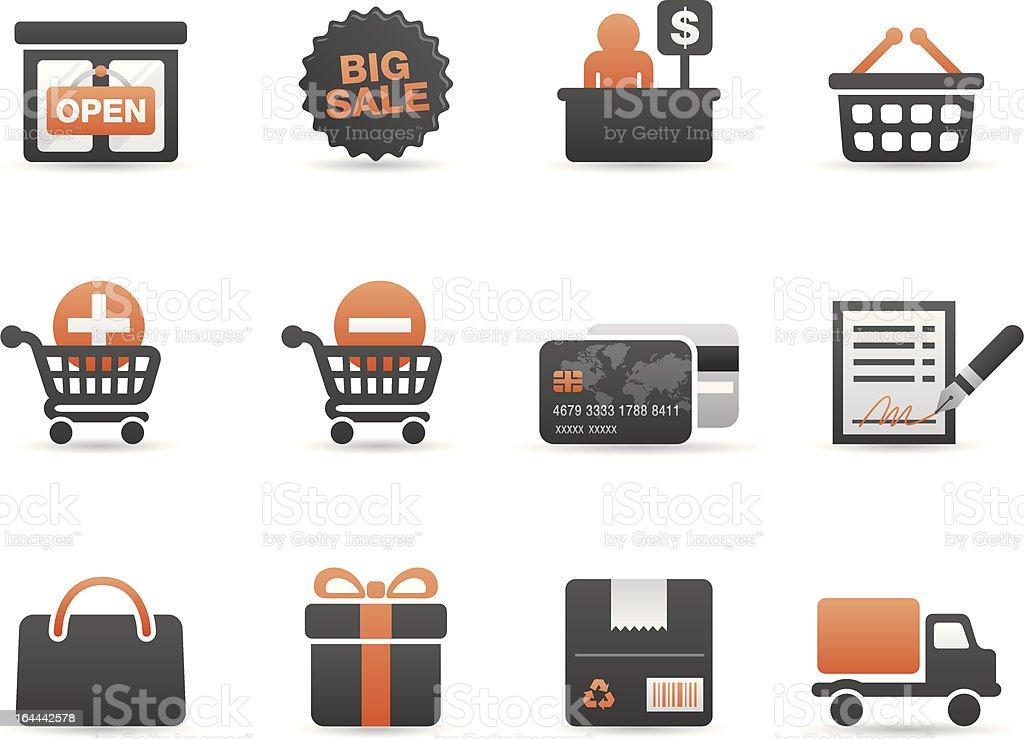 Shopping Icon Set | Two tone series royalty-free stock vector art