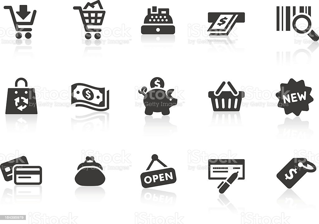 Shopping icons 1 vector art illustration