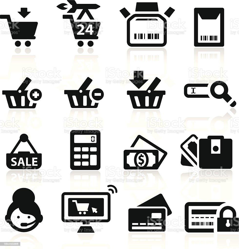 Shopping icons set elegant series royalty-free stock vector art