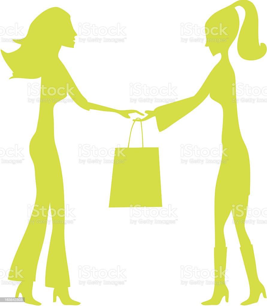 Shopping Ladies royalty-free stock vector art