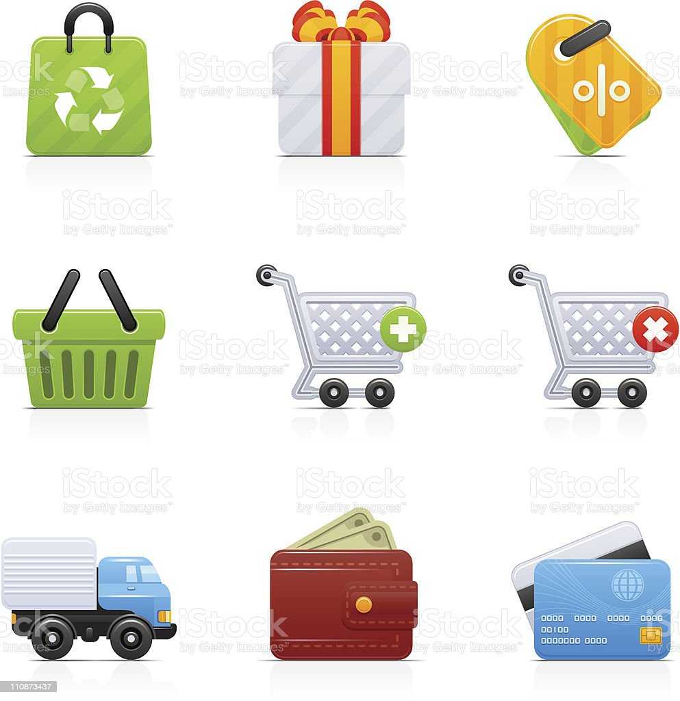 Shopping | Orbi collection vector art illustration