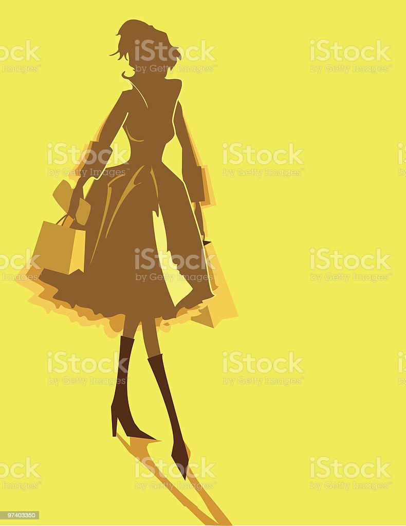 Shopping with Style royalty-free stock vector art
