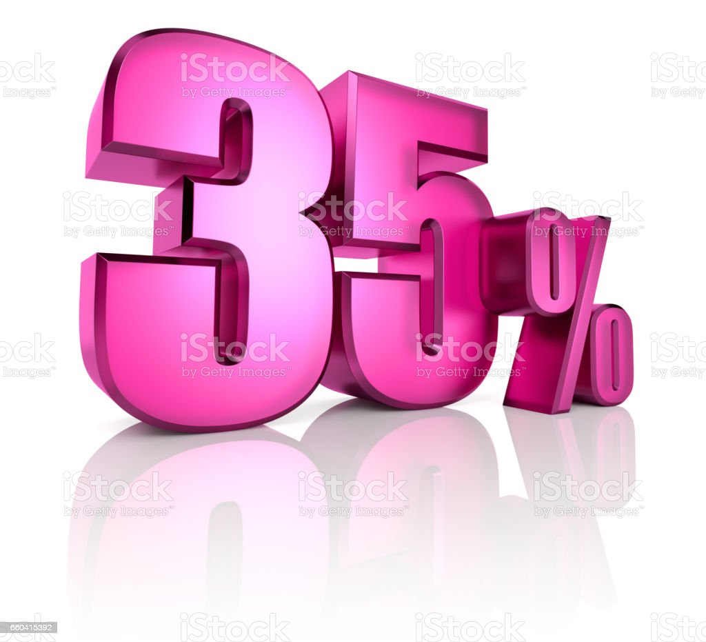 shoppingThirty Five Percent Sign stock photo