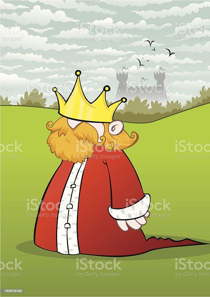 Short Medieval King royalty-free stock vector art