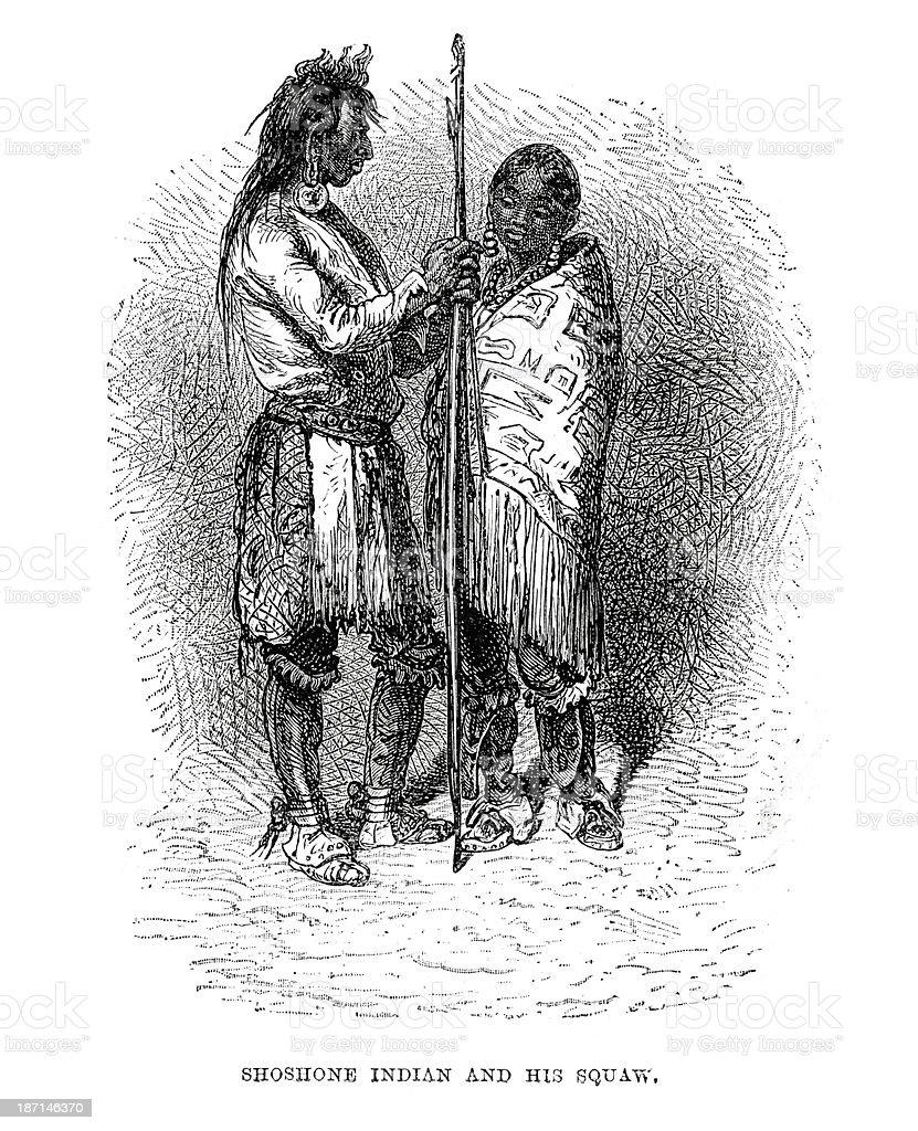 Shoshone Native American royalty-free stock vector art