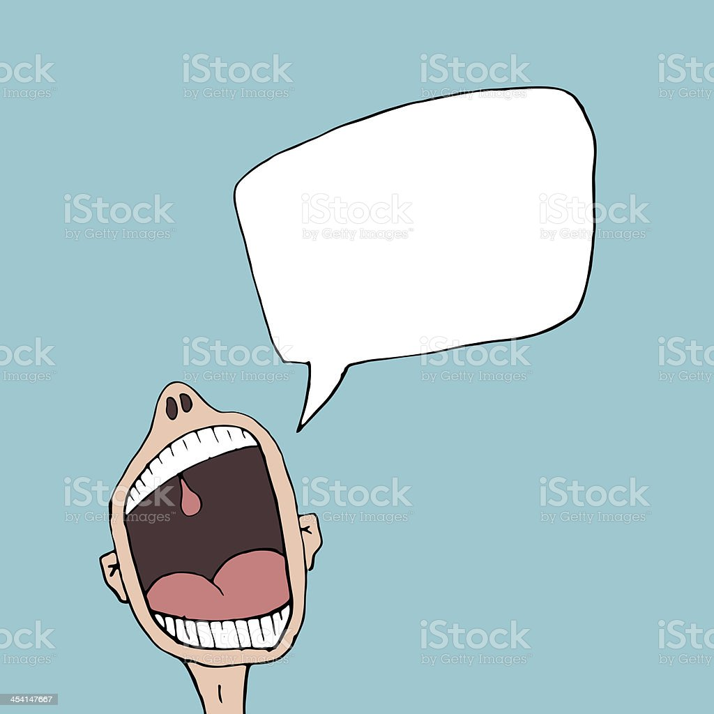 Shout it out royalty-free stock vector art