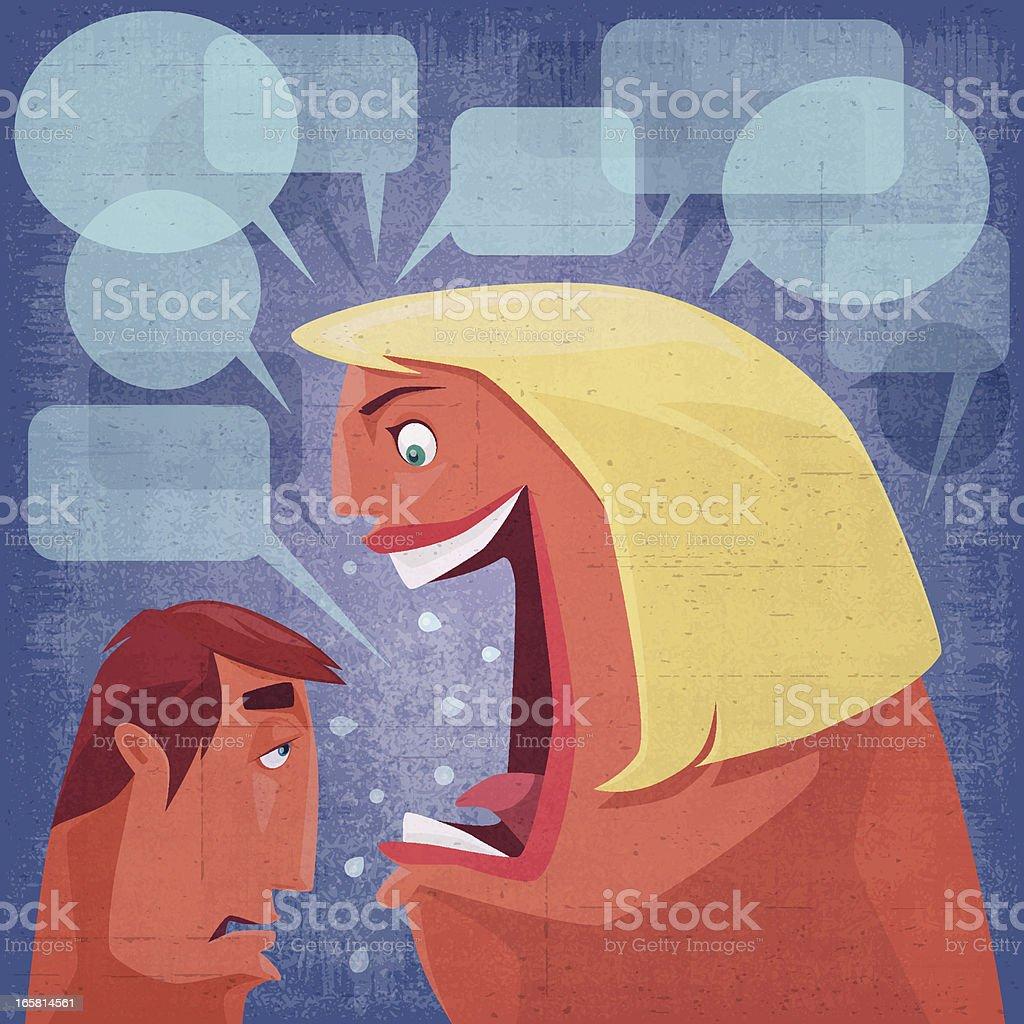 shouting vector art illustration