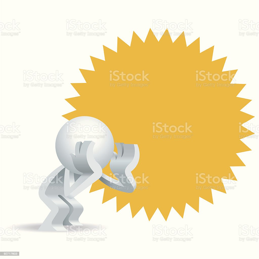 Shouting Simplified man royalty-free stock vector art