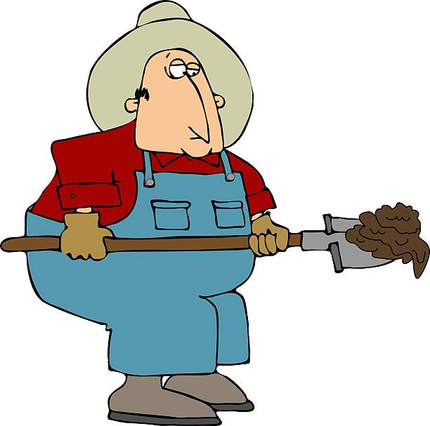 Image result for shoveling manure image