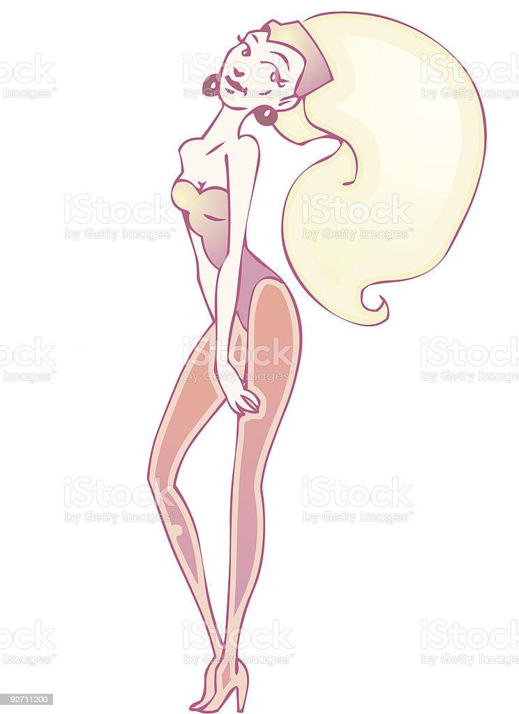 Showgirl Pose royalty-free stock vector art