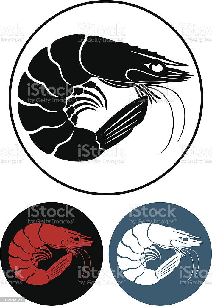 shrimp royalty-free stock vector art