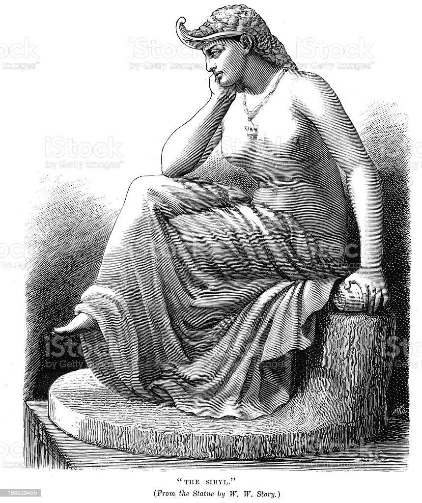 Sibyl vector art illustration