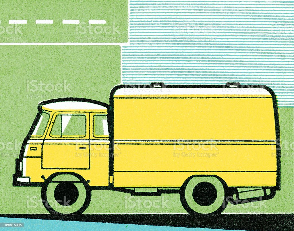 Side of a Truck royalty-free stock vector art