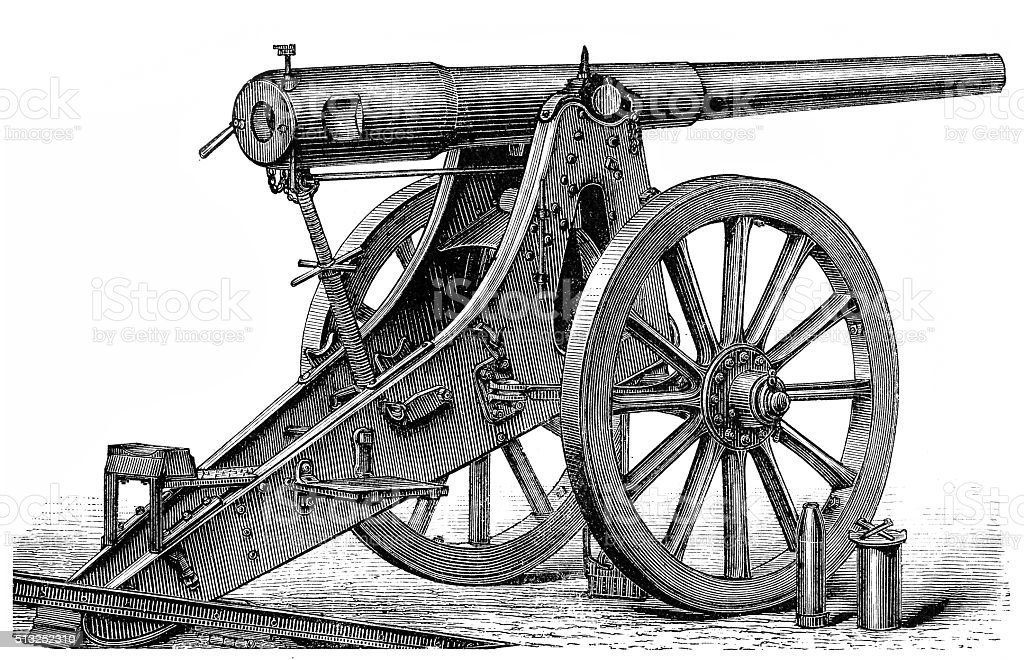 Siege artillery vector art illustration