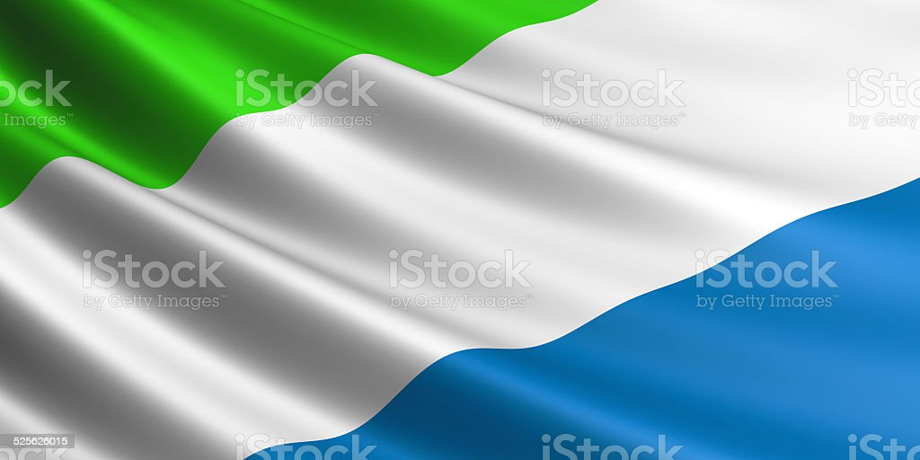 Sierra Leone flag. royalty-free stock vector art