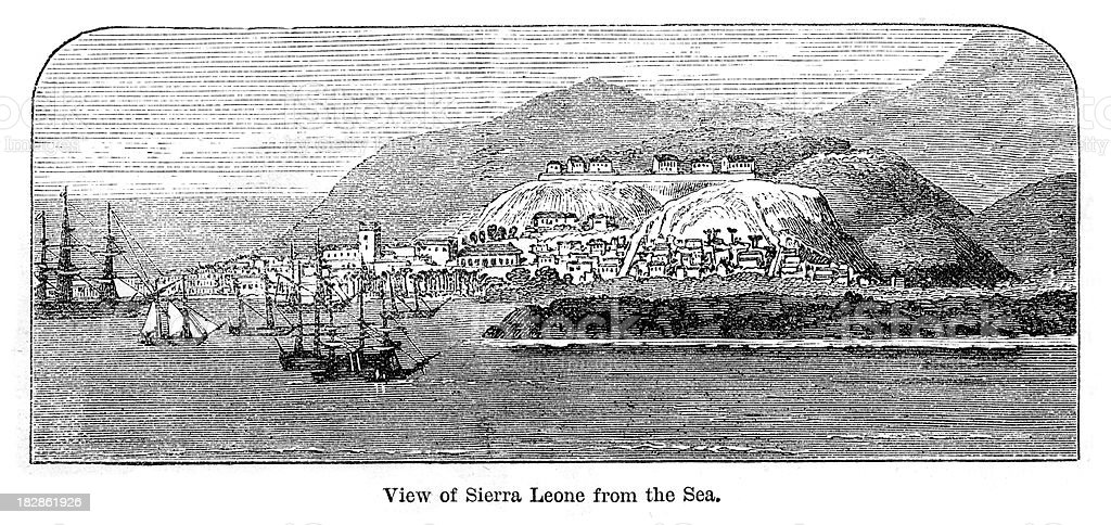 Sierra Leone from the Sea vector art illustration