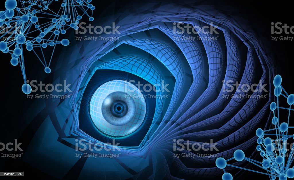 sight, abstract scientific background vector art illustration