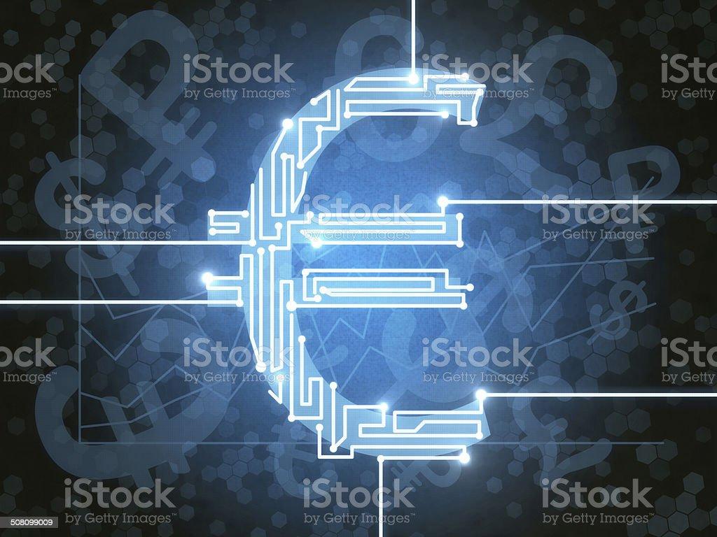 Sign euro vector art illustration