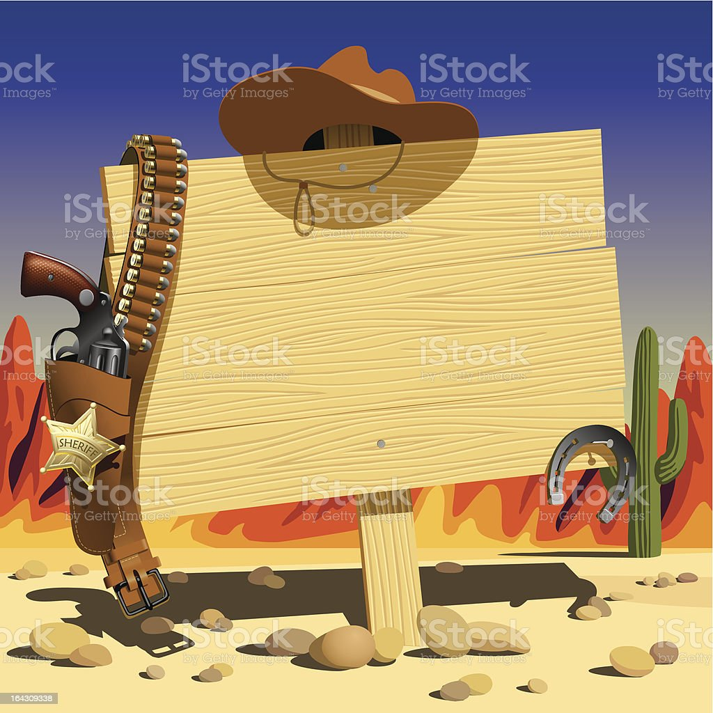 Sign in the Wild West royalty-free stock vector art