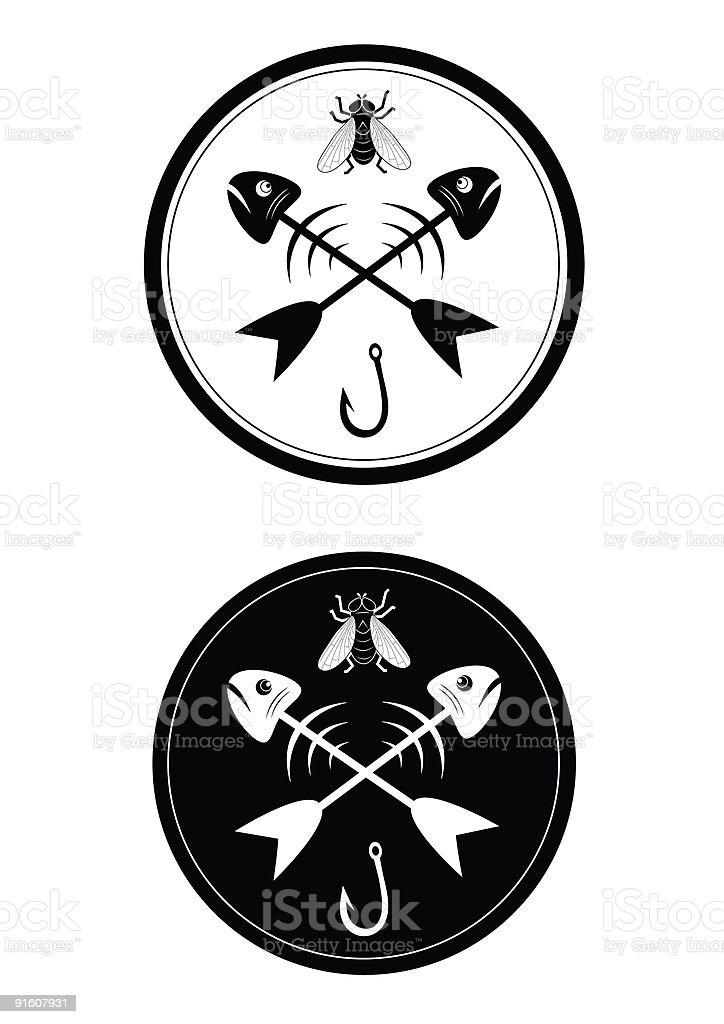 Sign of fishing royalty-free stock vector art