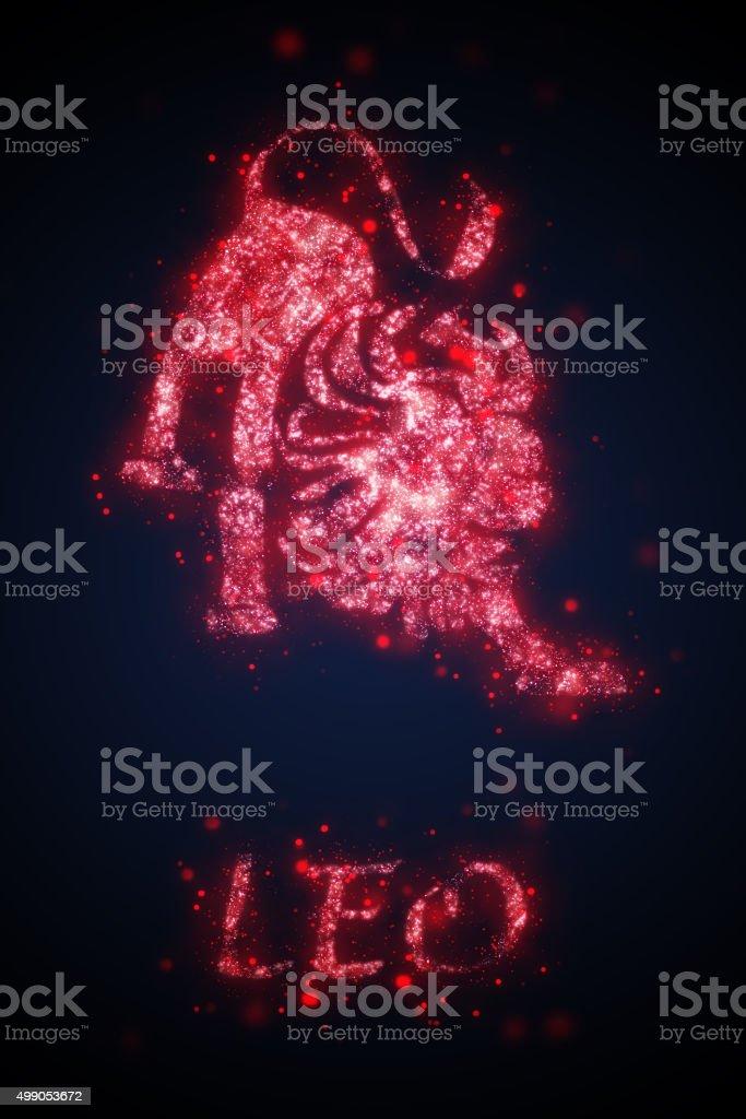 sign of leo vector art illustration