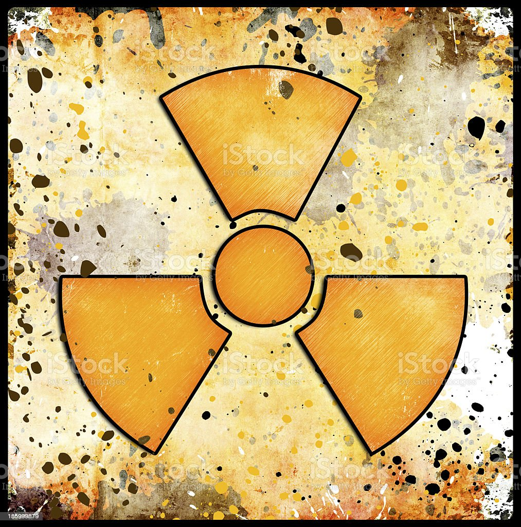 sign of radiation on grunge royalty-free stock vector art
