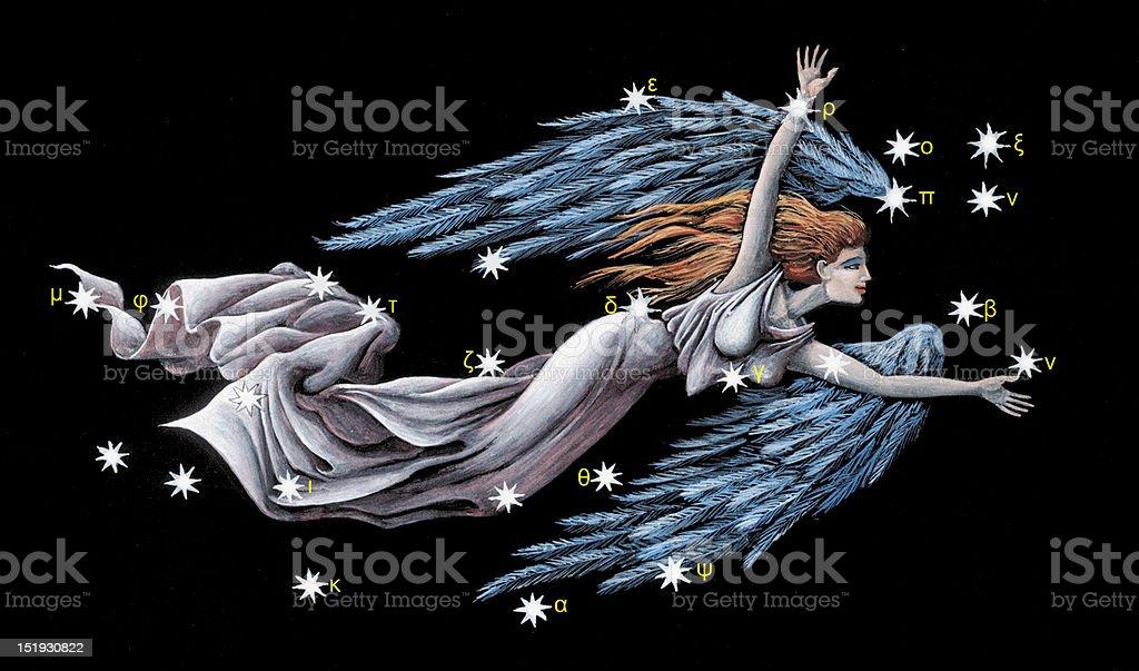 Sign on zodiac constellation The Virgin (Virgo) royalty-free stock vector art