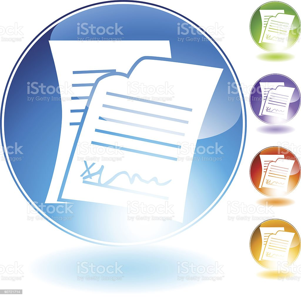 Signed Document Icon royalty-free stock vector art