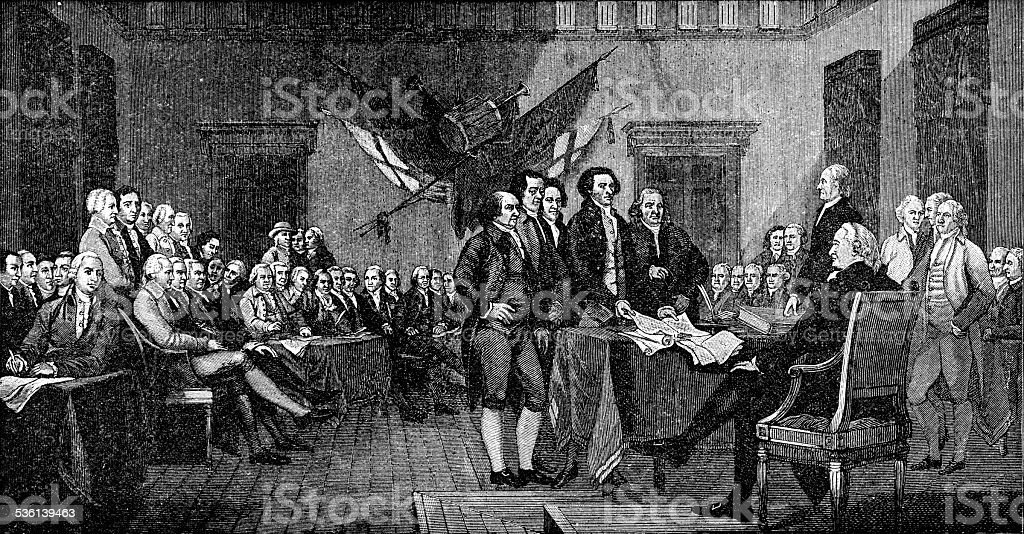 Signing of the Declaration of Independence vector art illustration