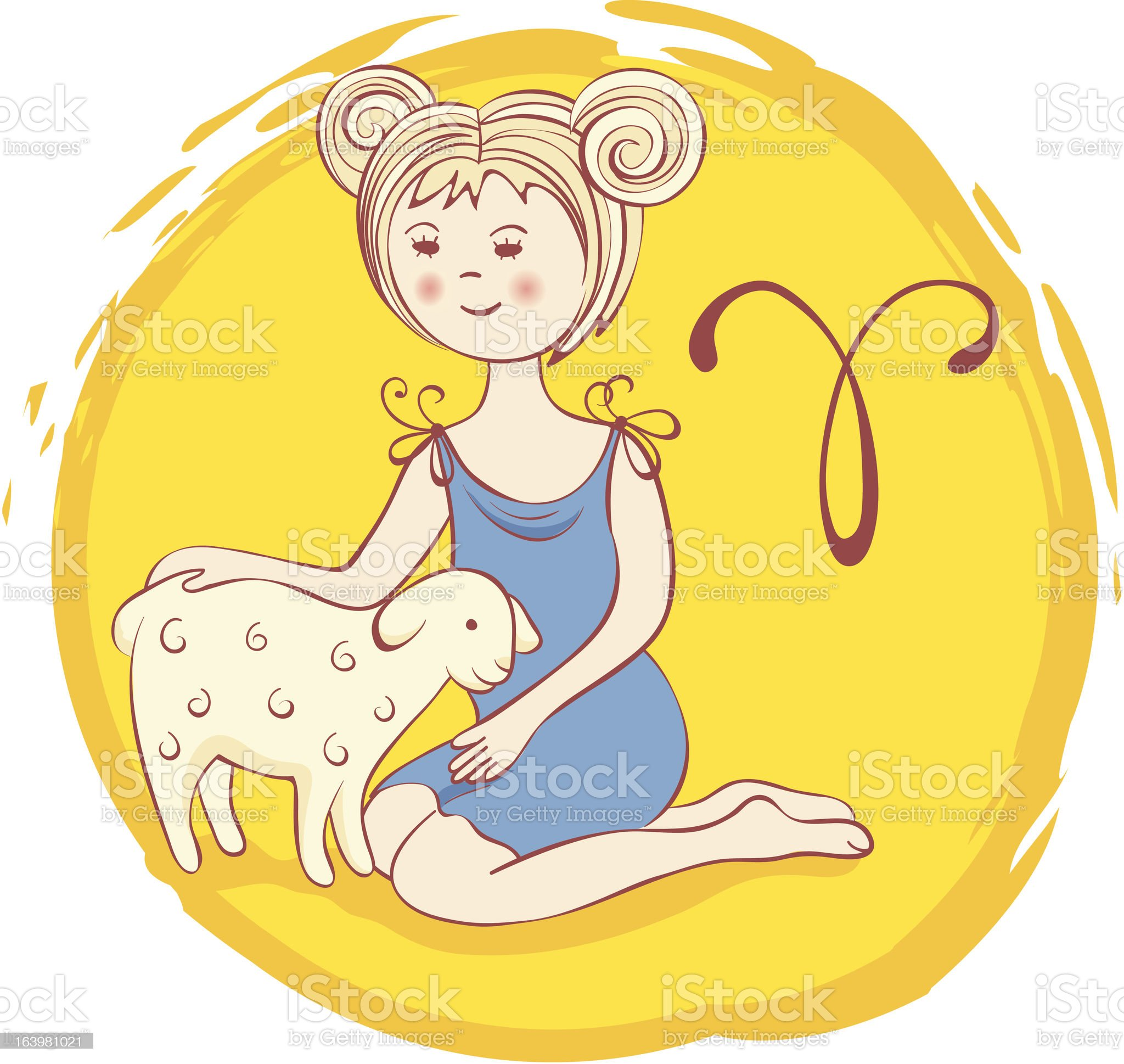 Signs of the Zodiac - Aries royalty-free stock vector art