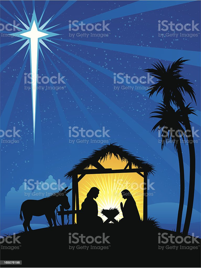 silent night royalty-free stock vector art