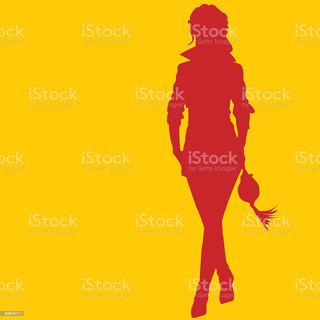 silhouette - girl 11 royalty-free stock vector art