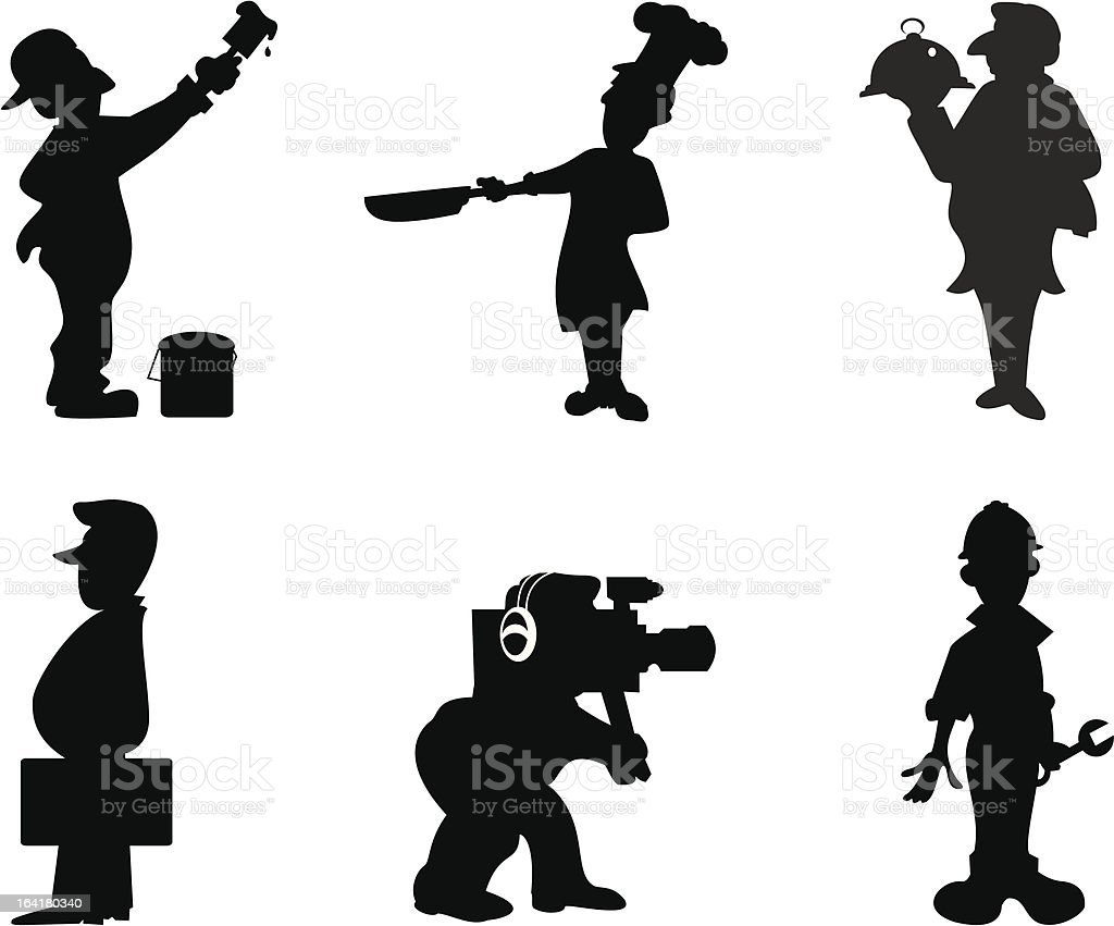 Silhouette royalty-free stock vector art